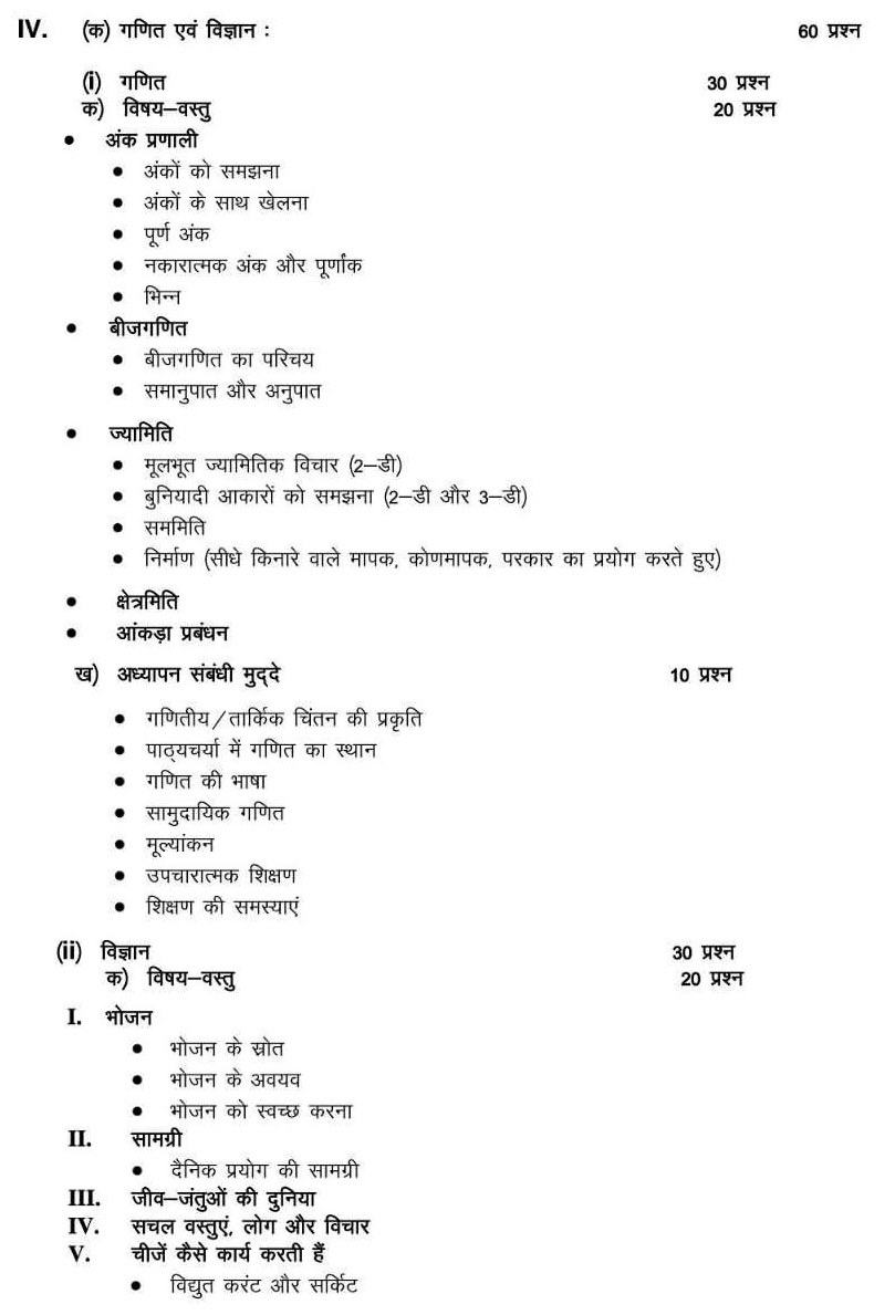 CTET Syllabus Hindi